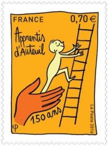 Timbre 150 ans Apprentis d'Auteuil