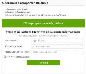 Aidez-nous à remporter 10 000 euros