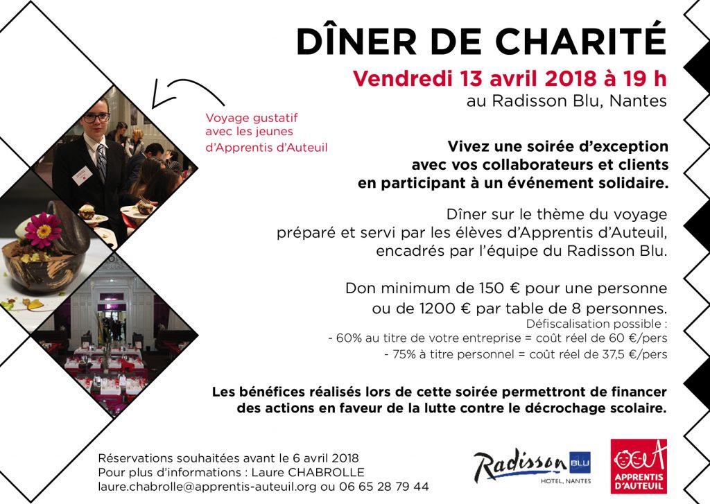 Invitation dîner de charité 2018